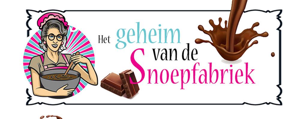 banner het geheim van de snoepfabriek